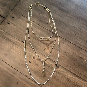 Stella and dot three tier necklace
